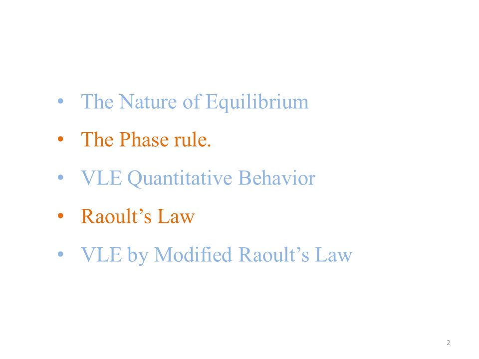 The Nature of Equilibrium The Phase rule.