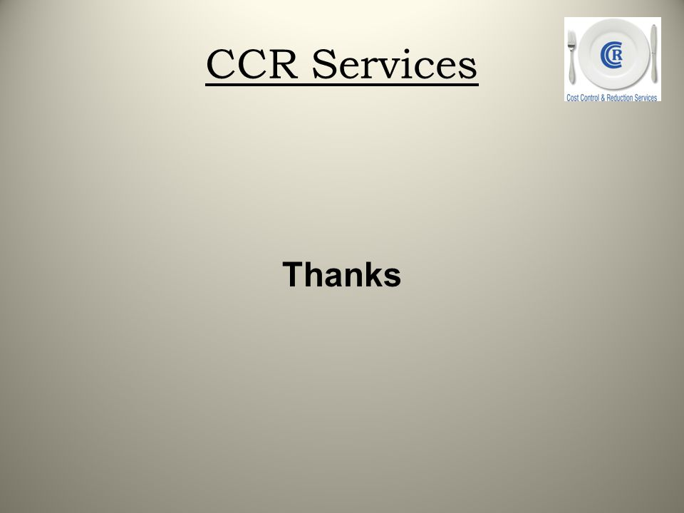 CCR Services Thanks