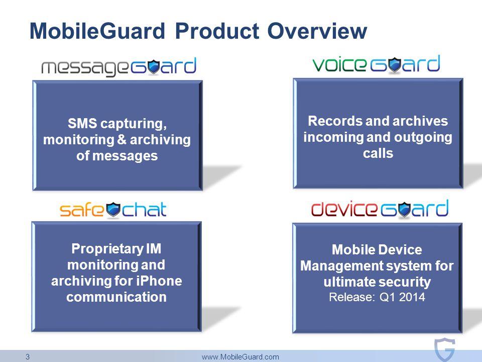 www.MobileGuard.com 3 MobileGuard Product Overview