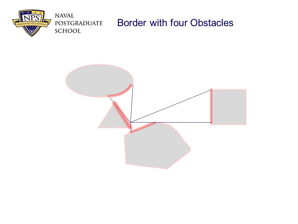Border with four Obstacles