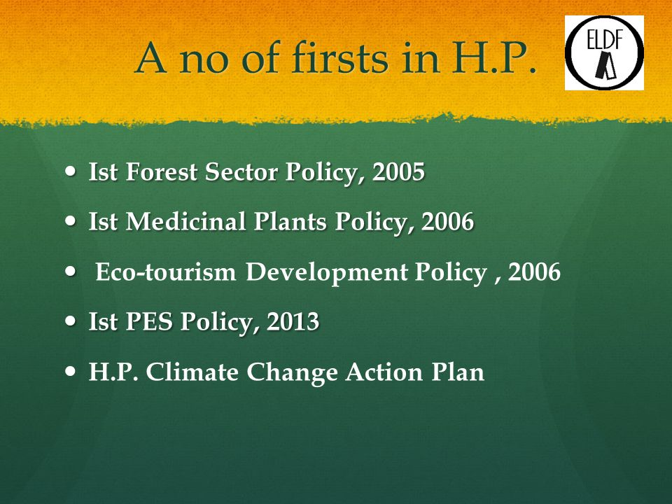 A no of firsts in H.P.