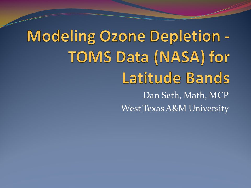 Dan Seth, Math, MCP West Texas A&M University
