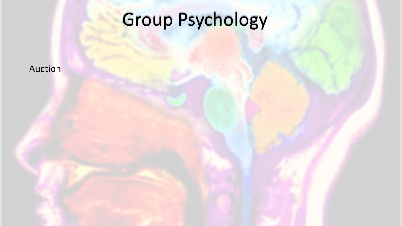 Group Psychology Auction