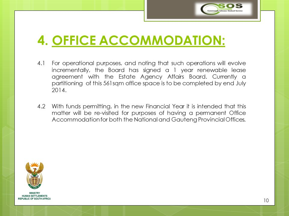 11 5.STAFF MATTERS: 5.1The CFO has already been appointed from 1 April 2014.