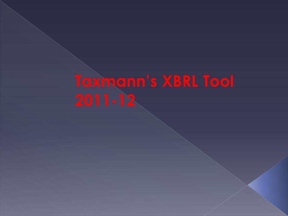 Taxmann's XBRL Tool 2011-12