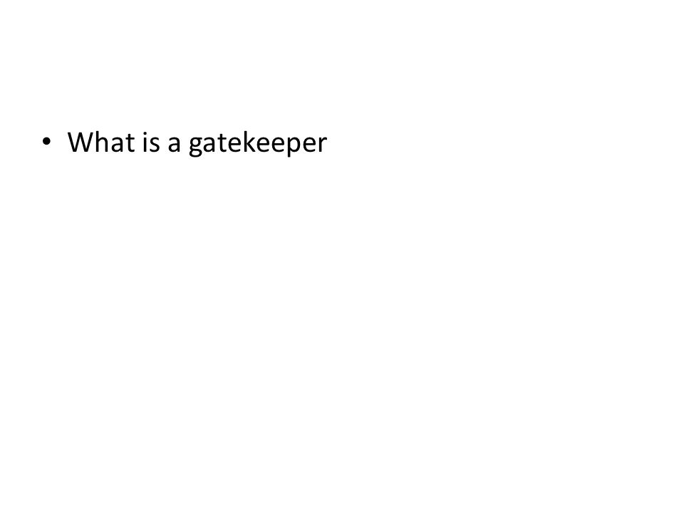 What is a gatekeeper