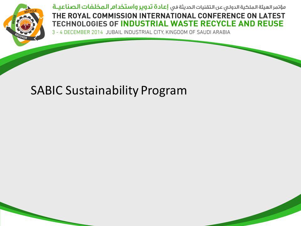 SABIC Sustainability Program