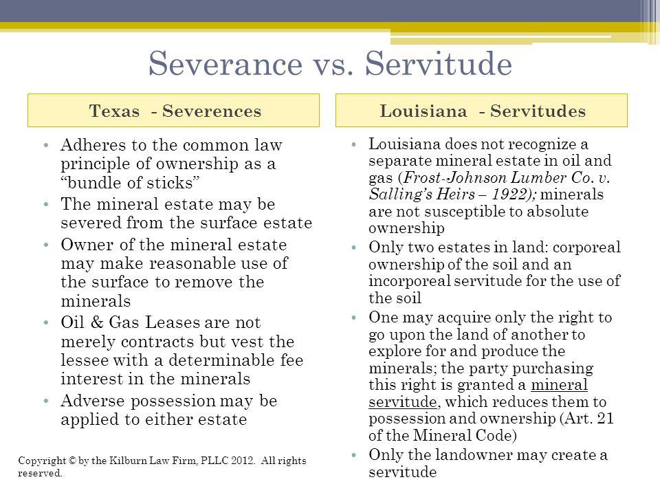 Severance vs.