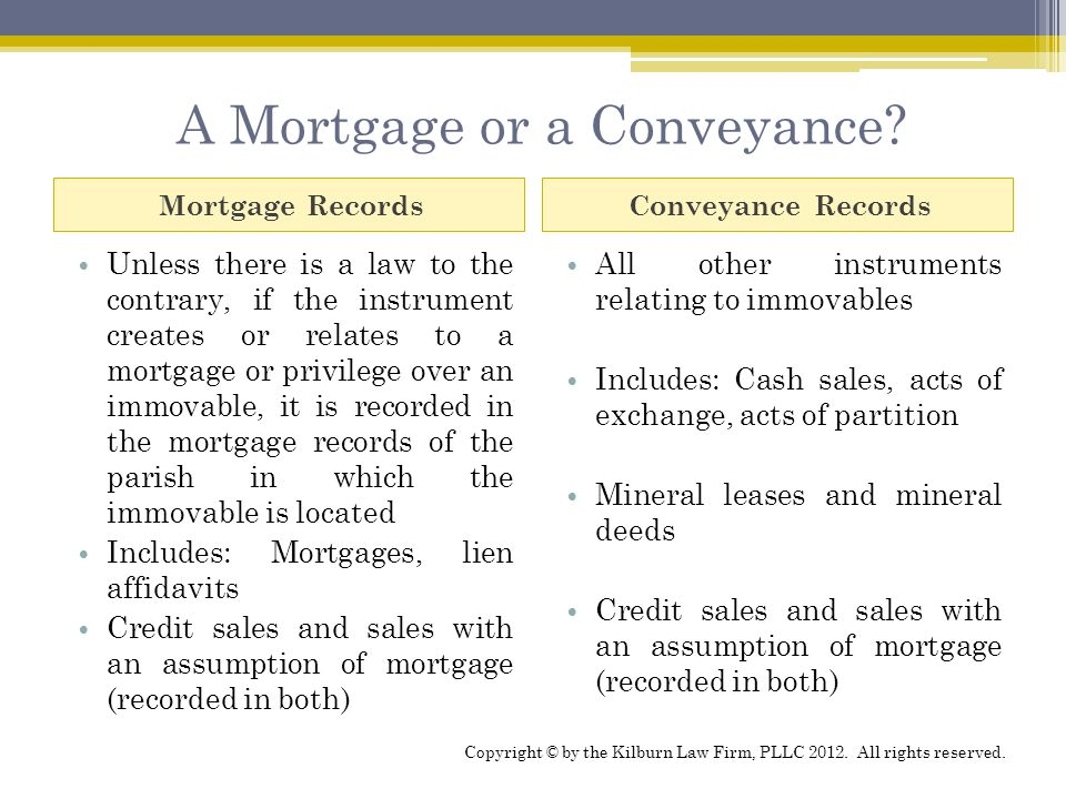 A Mortgage or a Conveyance.