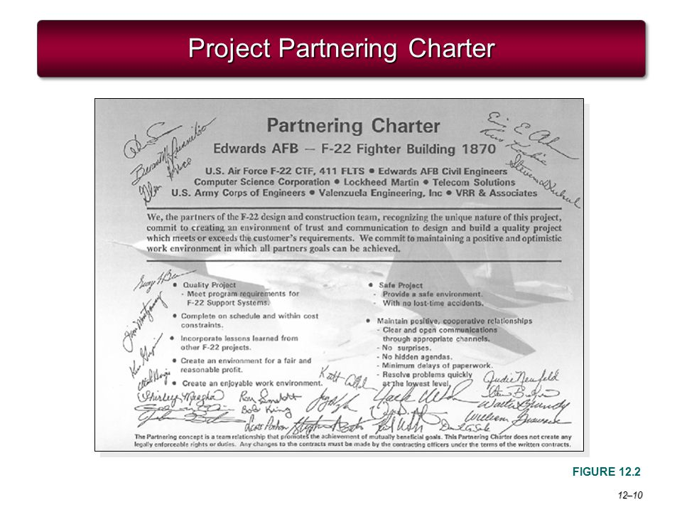12–10 Project Partnering Charter FIGURE 12.2