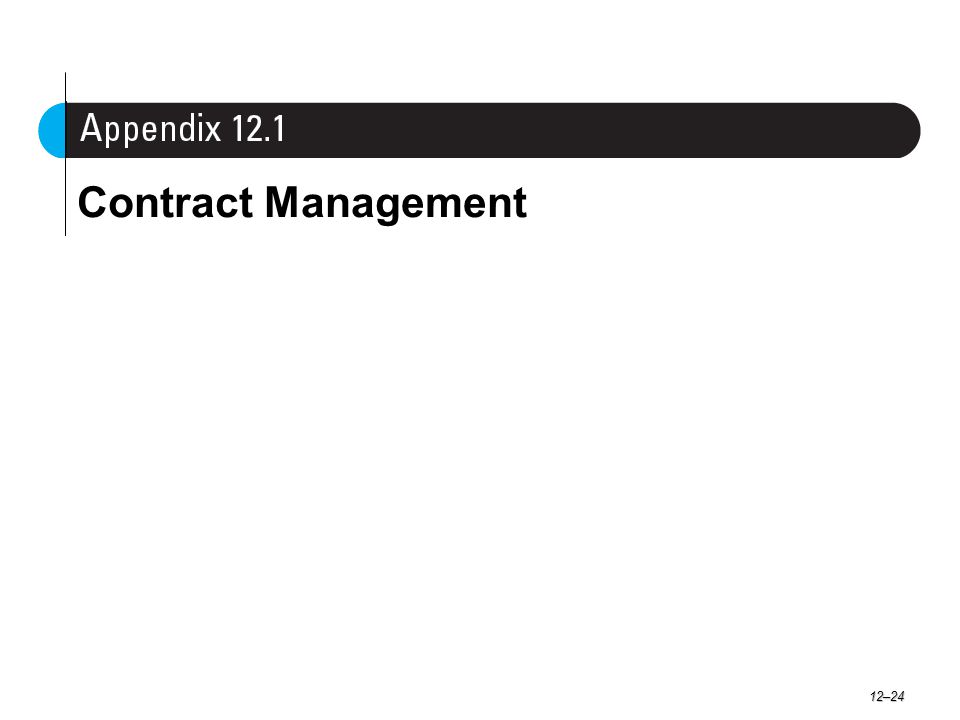 Contract Management 12–24