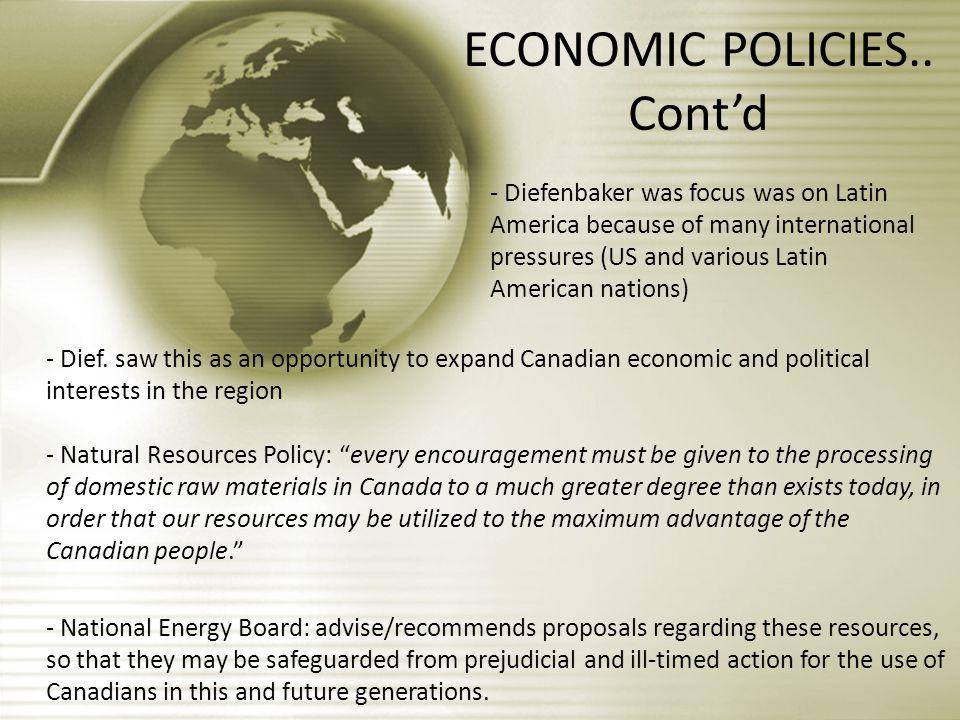 ECONOMIC POLICIES..