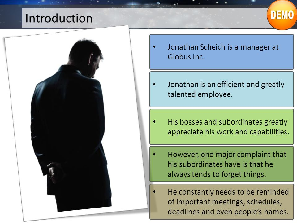 Introduction Jonathan maintains an online diary and calendar to remind him of his deadlines and schedules.