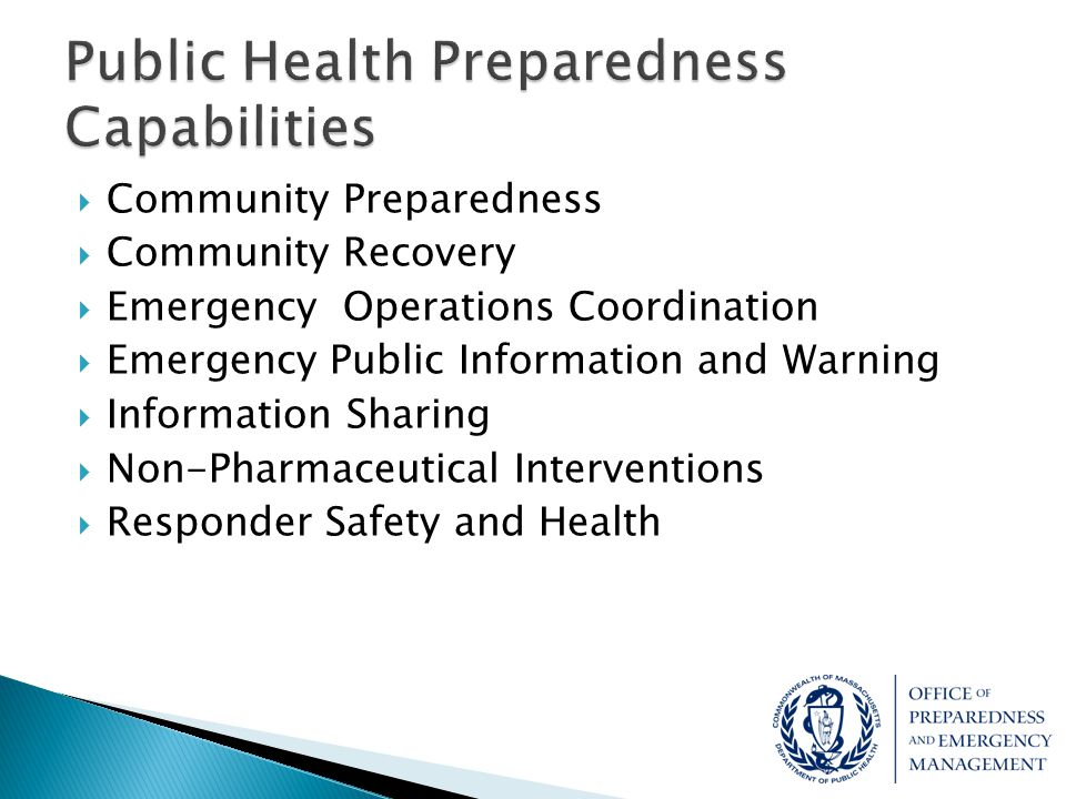 Community Preparedness  Discuss the ability of local health, public safety, municipal leaders and other local stakeholders to affectively respond to a confirmed case of Ebola within their community in accordance with current EOPs, SOGs, etc.