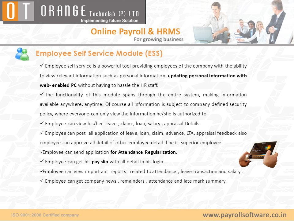 Employee self service - Login Screen Employee would get log –in Id as employee Code and company domain name.