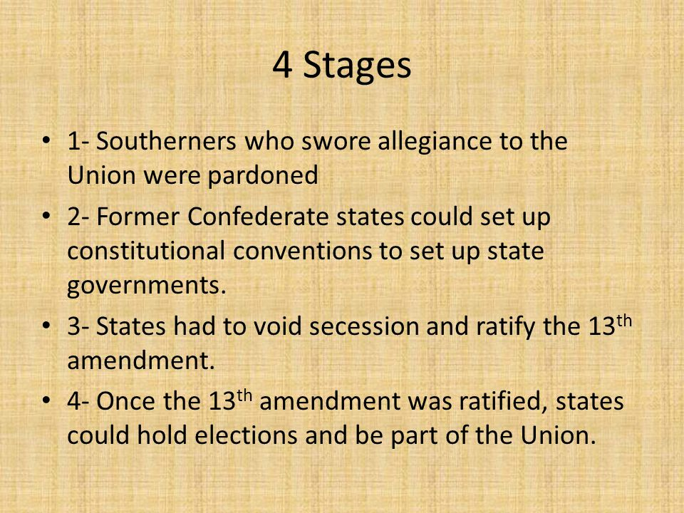 Radical Reconstruction Radical Republicans thought that Johnson was being to easy on the South and demanded more strict guidelines.