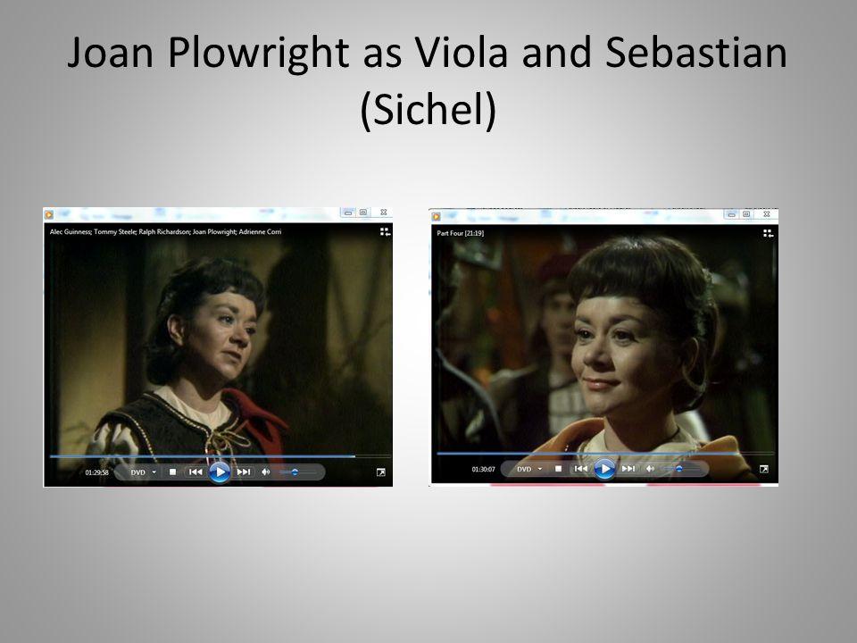 Joan Plowright as Viola and Sebastian (Sichel)