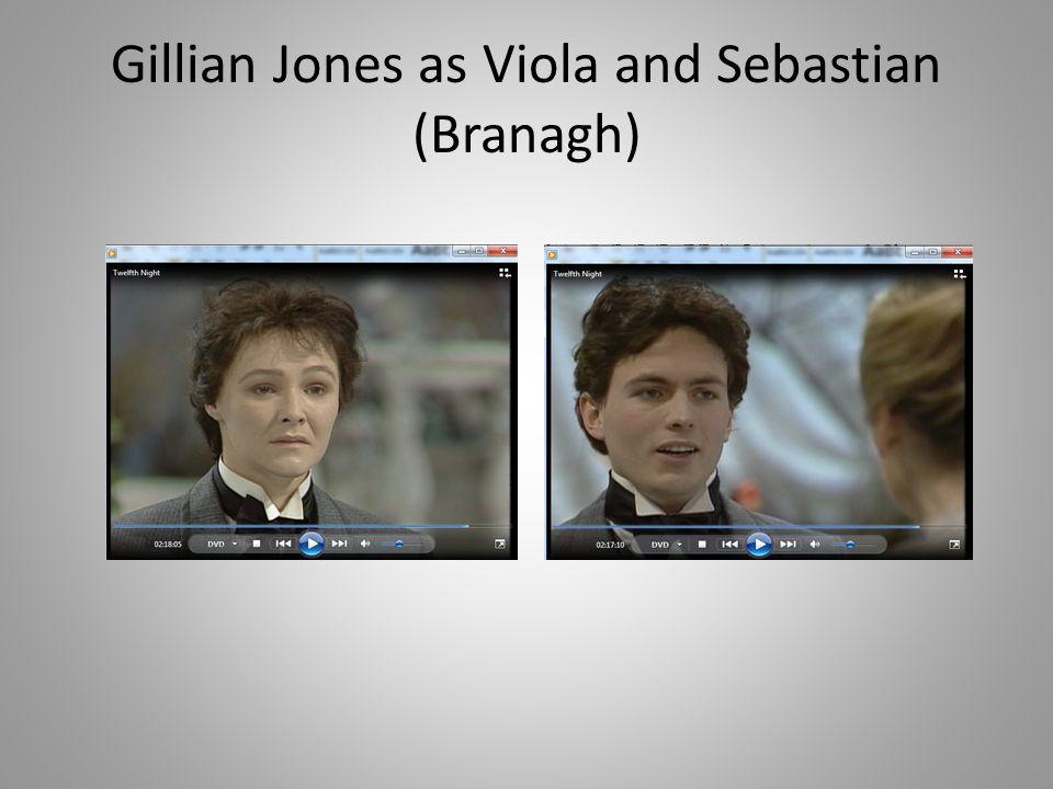 Gillian Jones as Viola and Sebastian (Branagh)