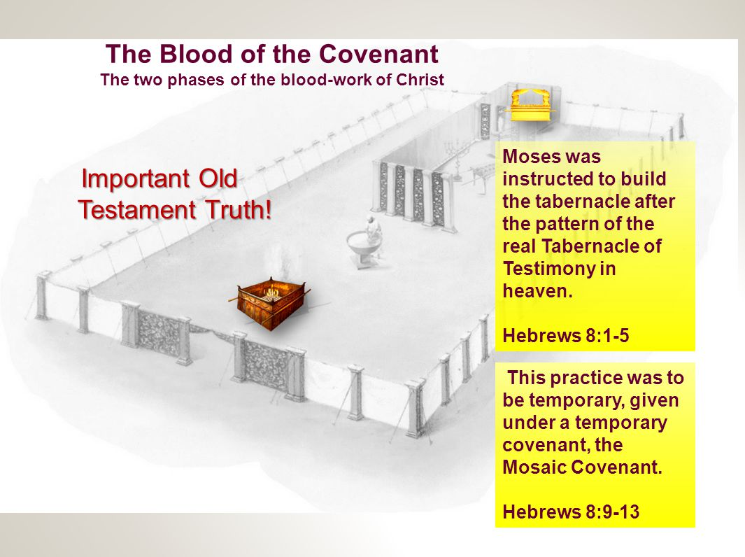 The Blood of the Covenant The two phases of the blood-work of Christ Important New Testament Truth.