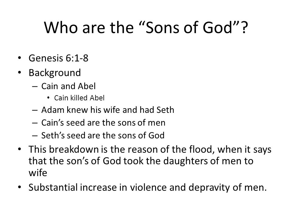 Who are the Sons of God .