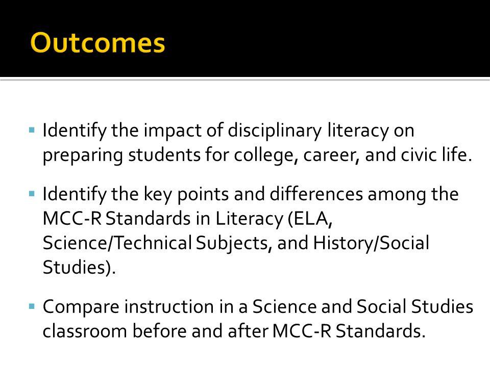 Basic Literacy Intermediate Literacy Disciplinary Literacy Pk-3 4-5 6-8 9-12 Adapted from Shanahan, 2012 Intermediate Literacy