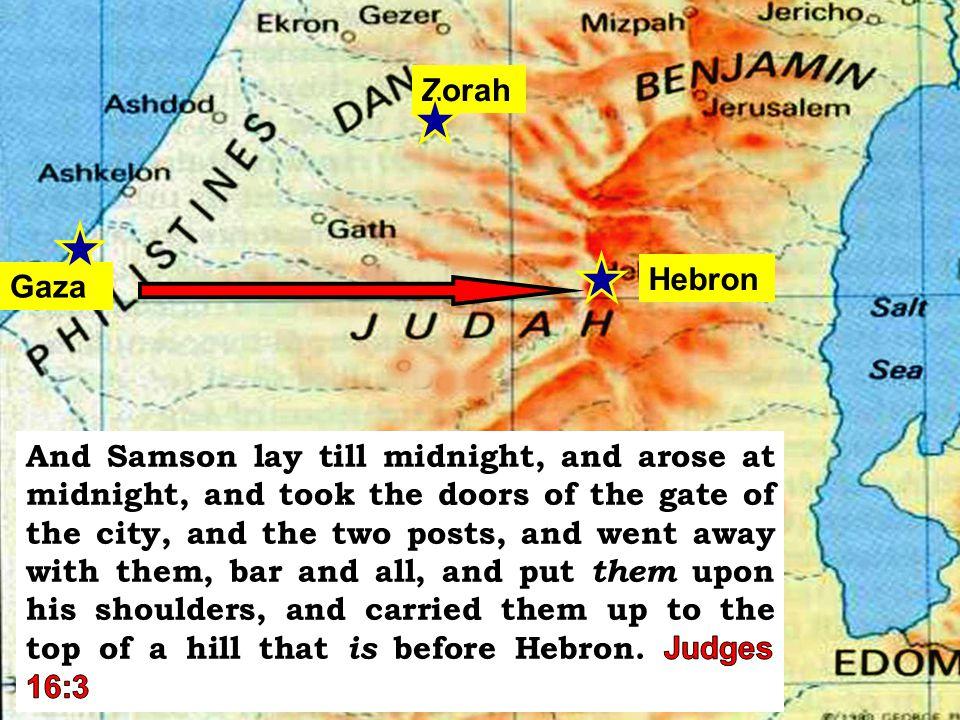 Hebron Gaza Zorah