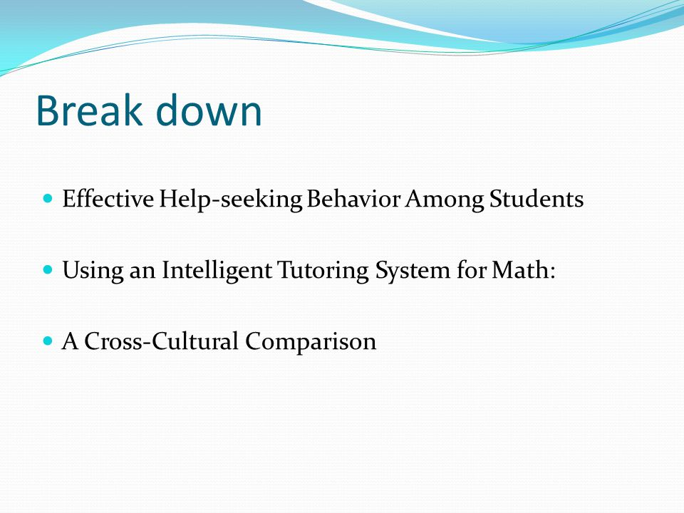 Break down Effective Help-seeking Behavior Among Students Using an Intelligent Tutoring System for Math: A Cross-Cultural Comparison