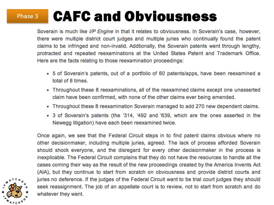 CAFC and Obviousness Phase 3
