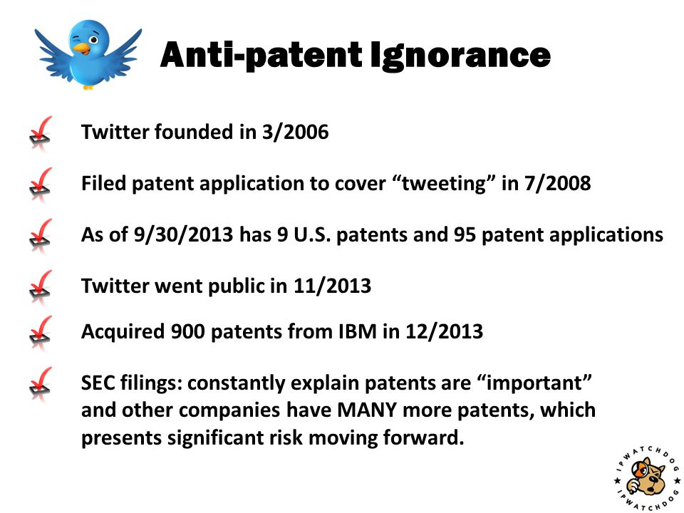 Modern Tech Industry Doesn't Exist Without Patents Software has been patented since 1965.