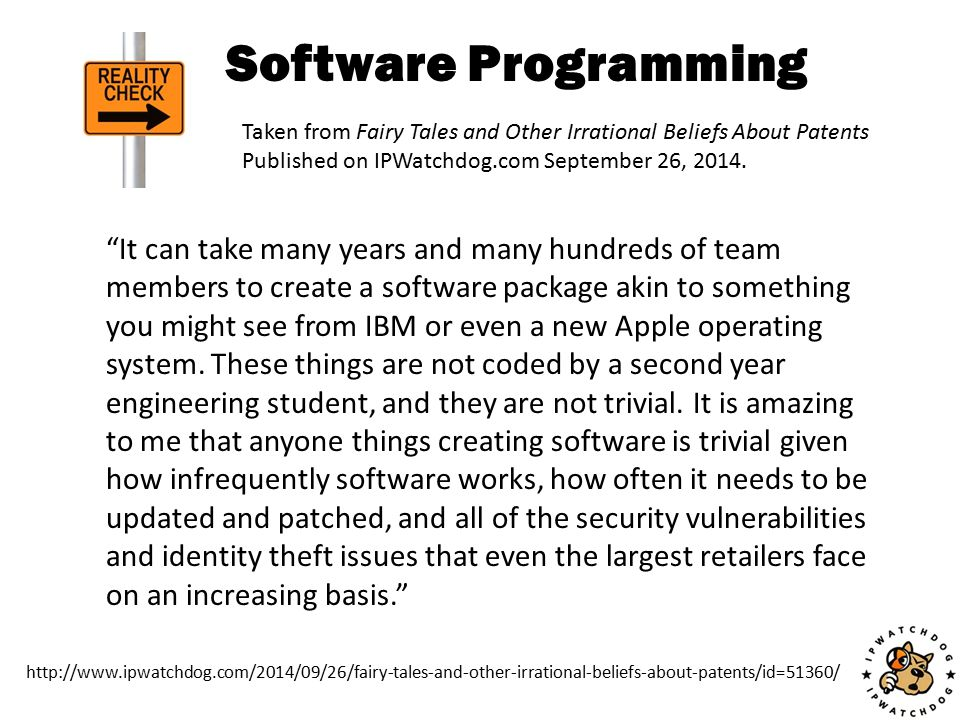 """Software Programming """"It can take many years and many hundreds of team members to create a software package akin to something you might see from IBM o"""