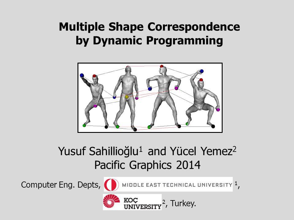 Multiple Shape Correspondence by Dynamic Programming Yusuf Sahillioğlu 1 and Yücel Yemez 2 Pacific Graphics 2014 Computer Eng.