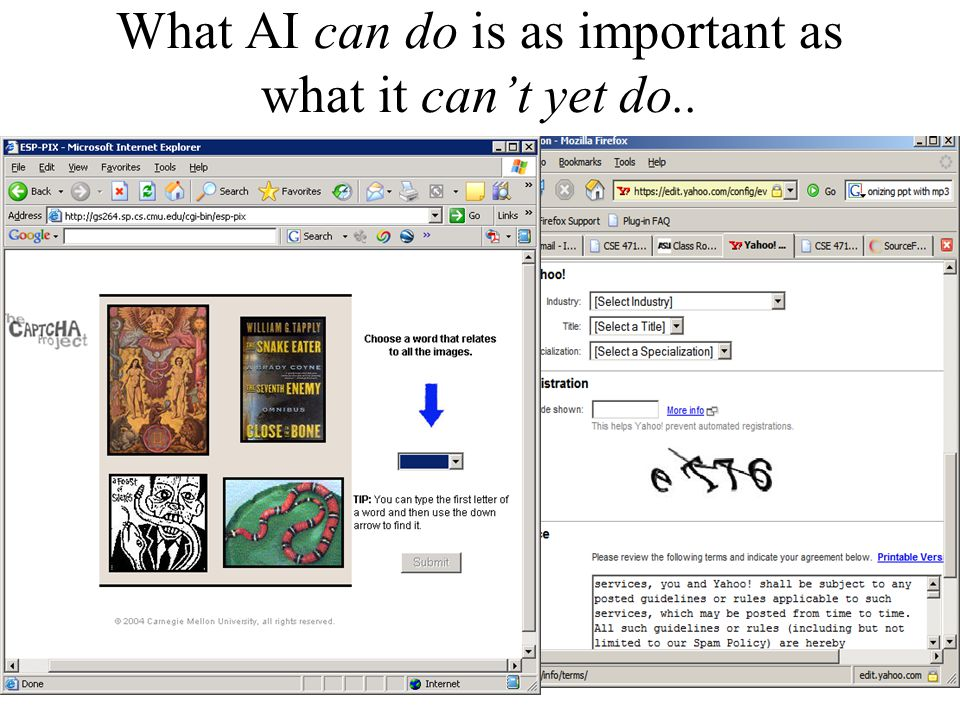 What AI can do is as important as what it can't yet do.. Captcha project