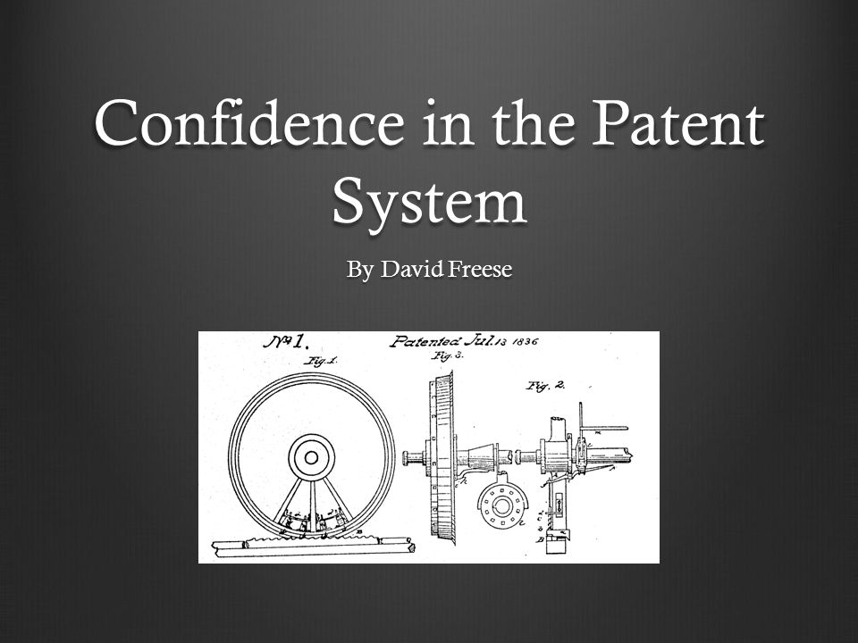 Confidence in the Patent System By David Freese