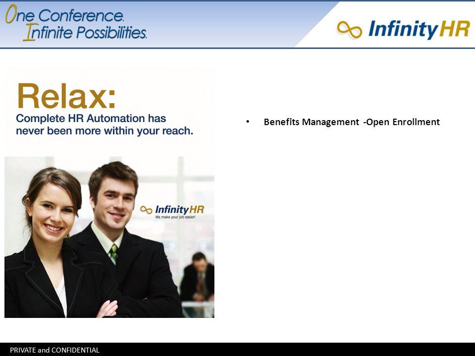 Benefits Management -Open Enrollment