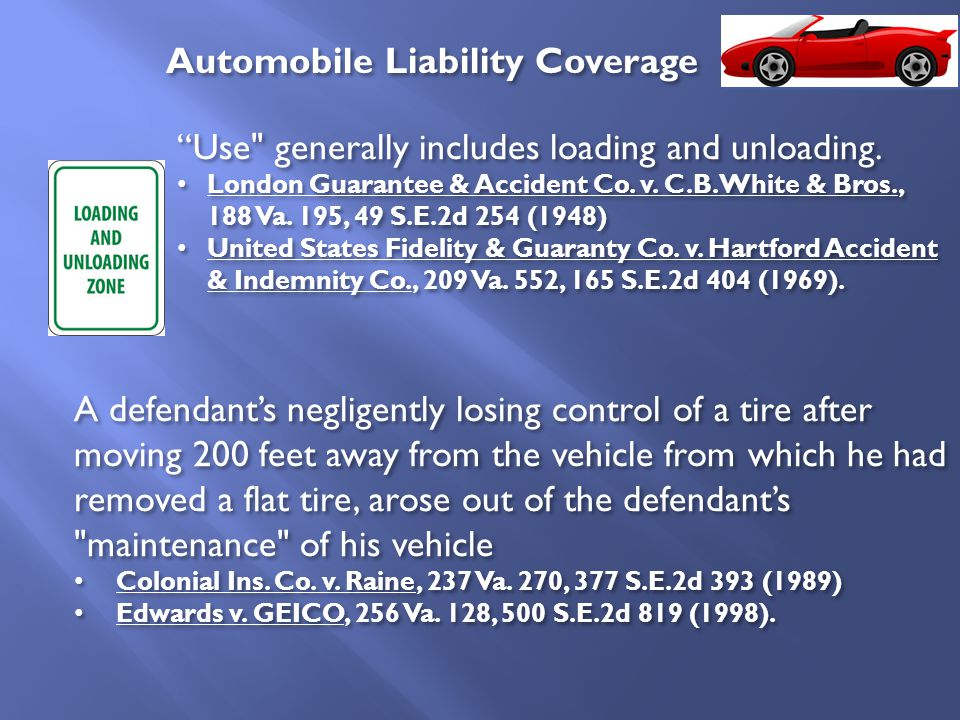 Use generally includes loading and unloading. London Guarantee & Accident Co.