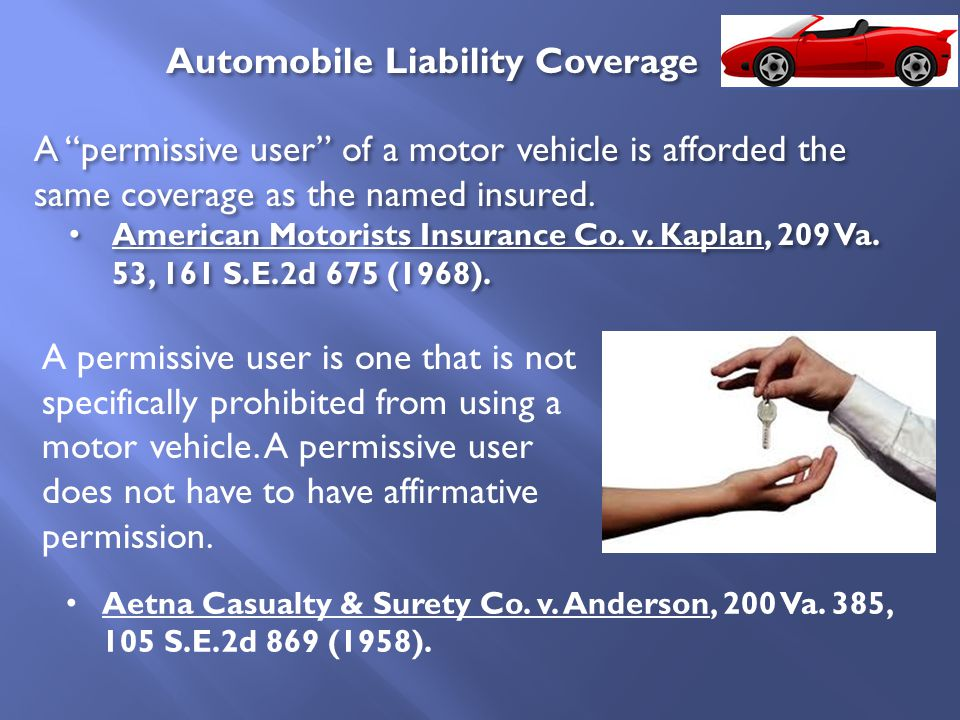 "A ""permissive user"" of a motor vehicle is afforded the same coverage as the named insured. American Motorists Insurance Co. v. Kaplan, 209 Va. 53, 161"