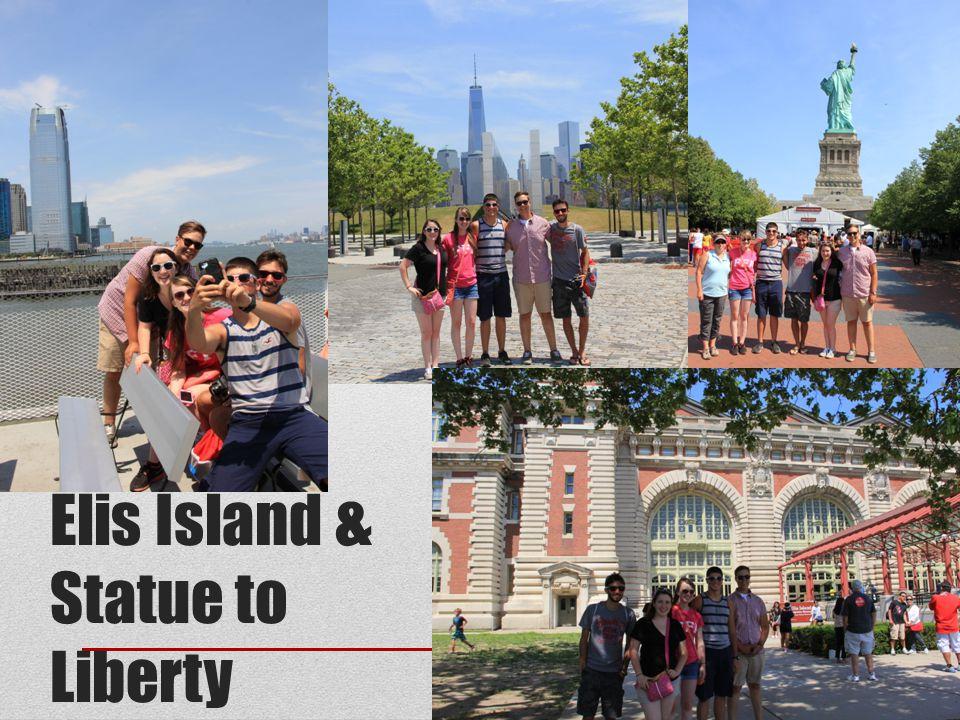 Elis Island & Statue to Liberty