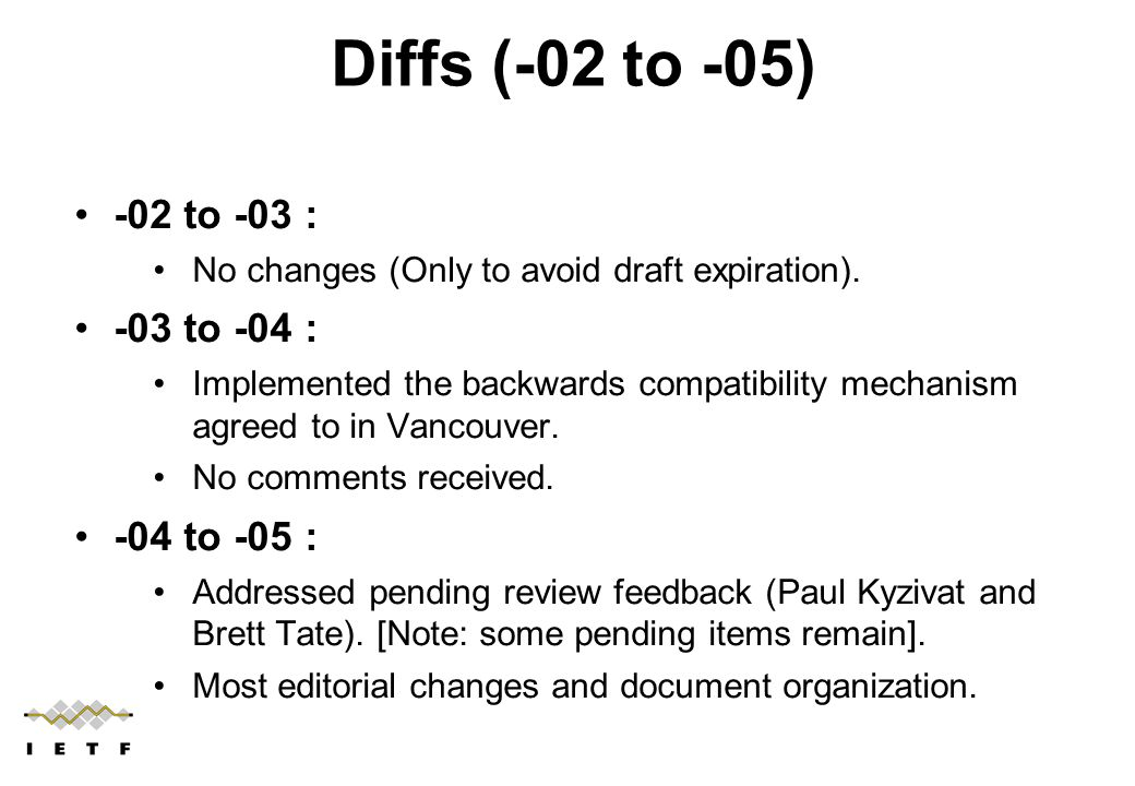 -02 to -03 : No changes (Only to avoid draft expiration).