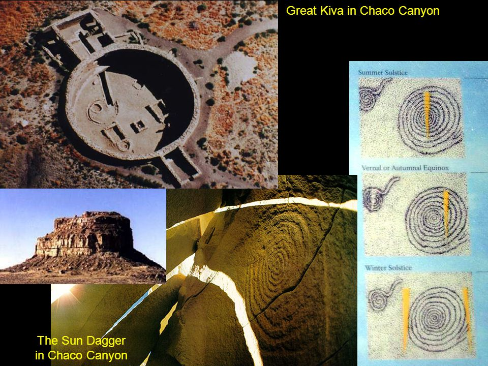 Great Kiva in Chaco Canyon The Sun Dagger in Chaco Canyon