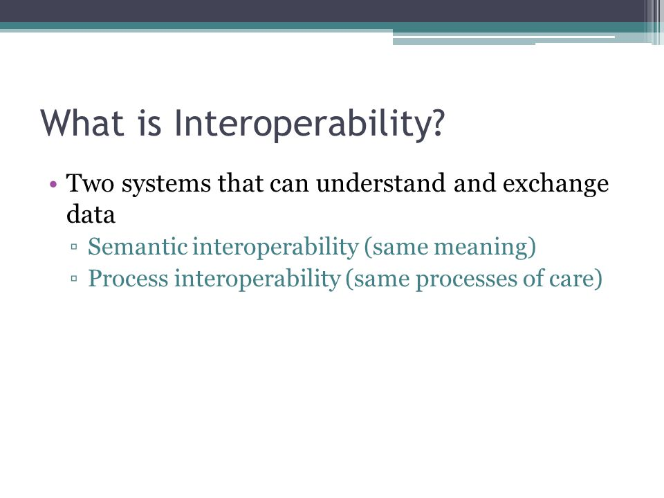 What is Interoperability.