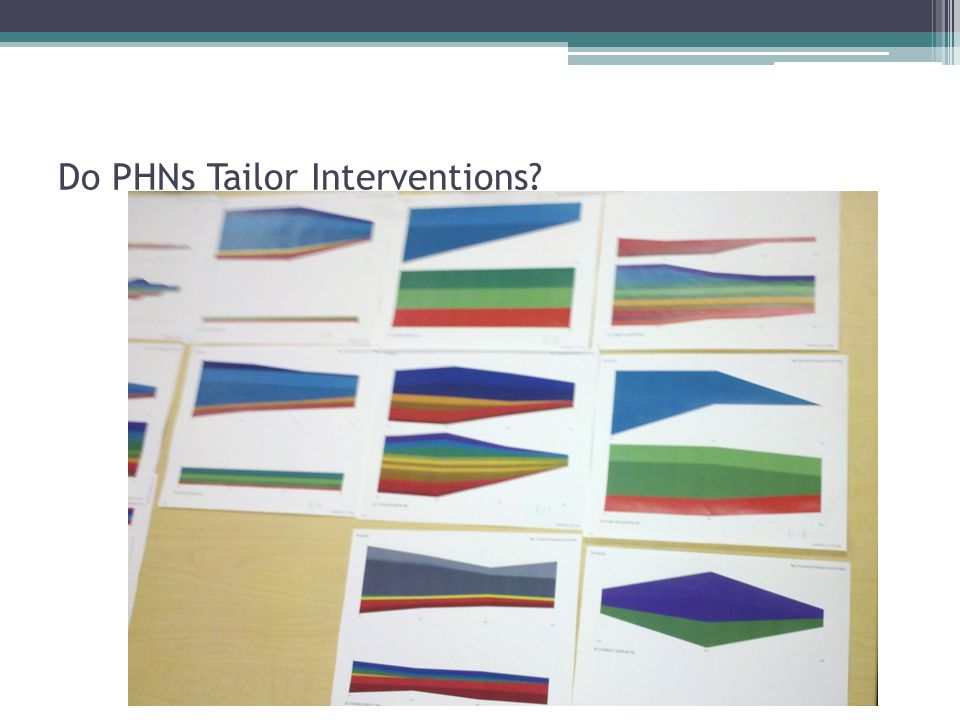 Do PHNs Tailor Interventions