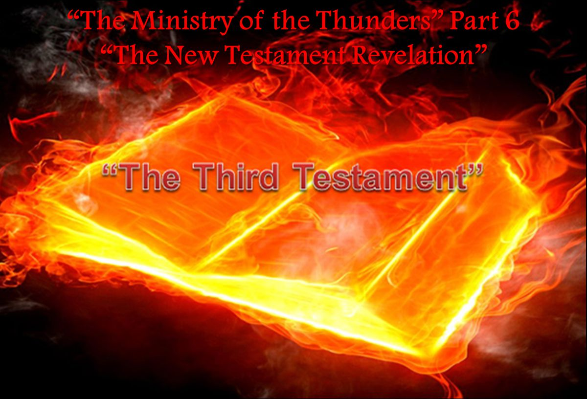 The Last Adam was the testator of the Second Testament and he laid down his life in death to grant us a way out of the lower regions of the natural birth process into the revelation of spoken word bodies; new creation.