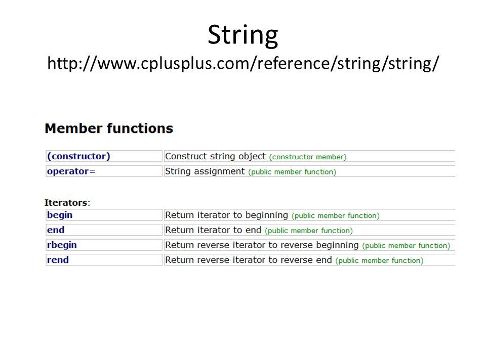 String http://www.cplusplus.com/reference/string/string/