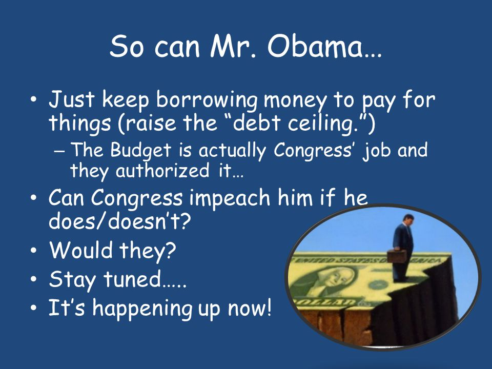 "This is what Obama Says… ""This administration does not believe that the 14th Amendment gives the president the power to ignore the debt ceiling–period"