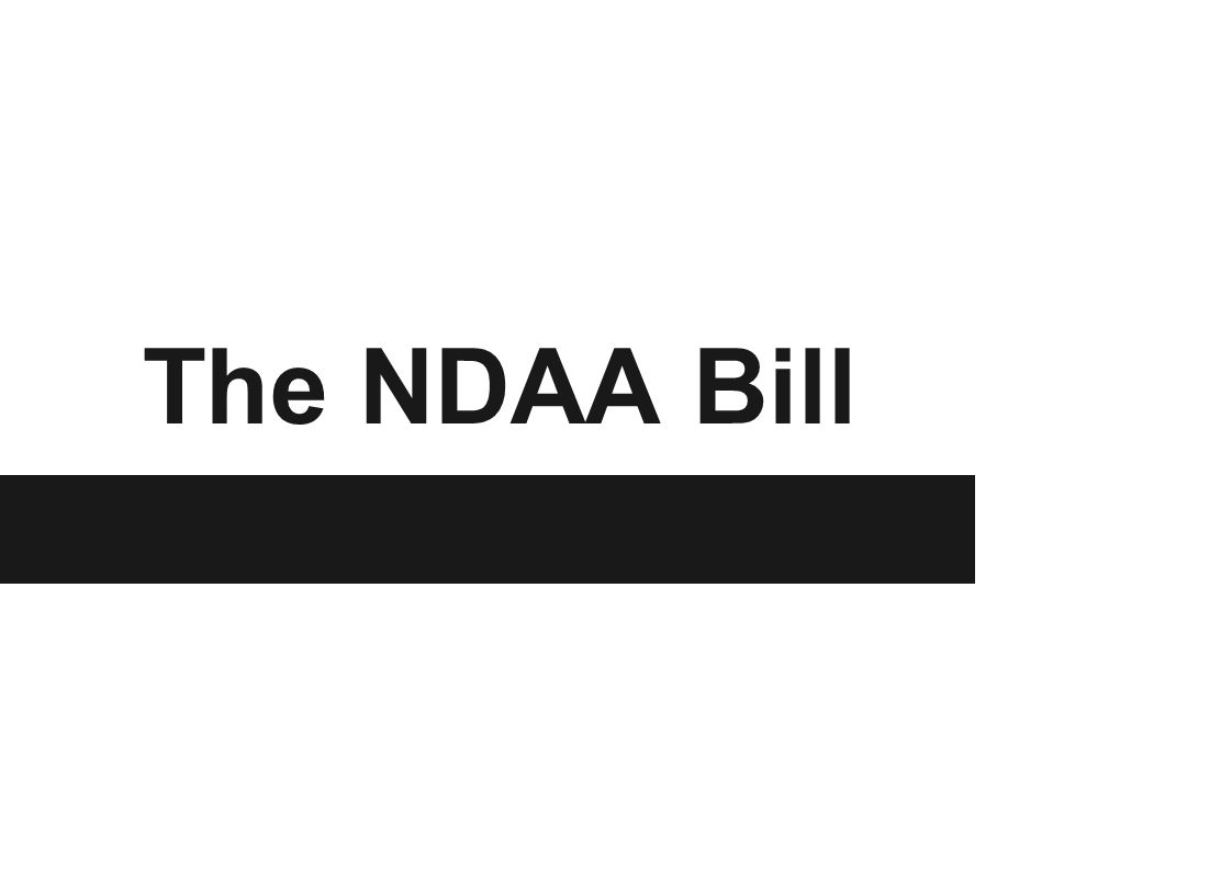 The NDAA Bill