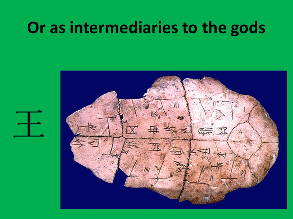 Or as intermediaries to the gods