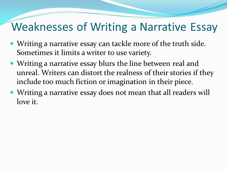 Narrative Essay Starters