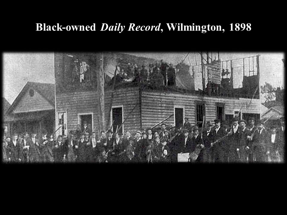 Black-owned Daily Record, Wilmington, 1898