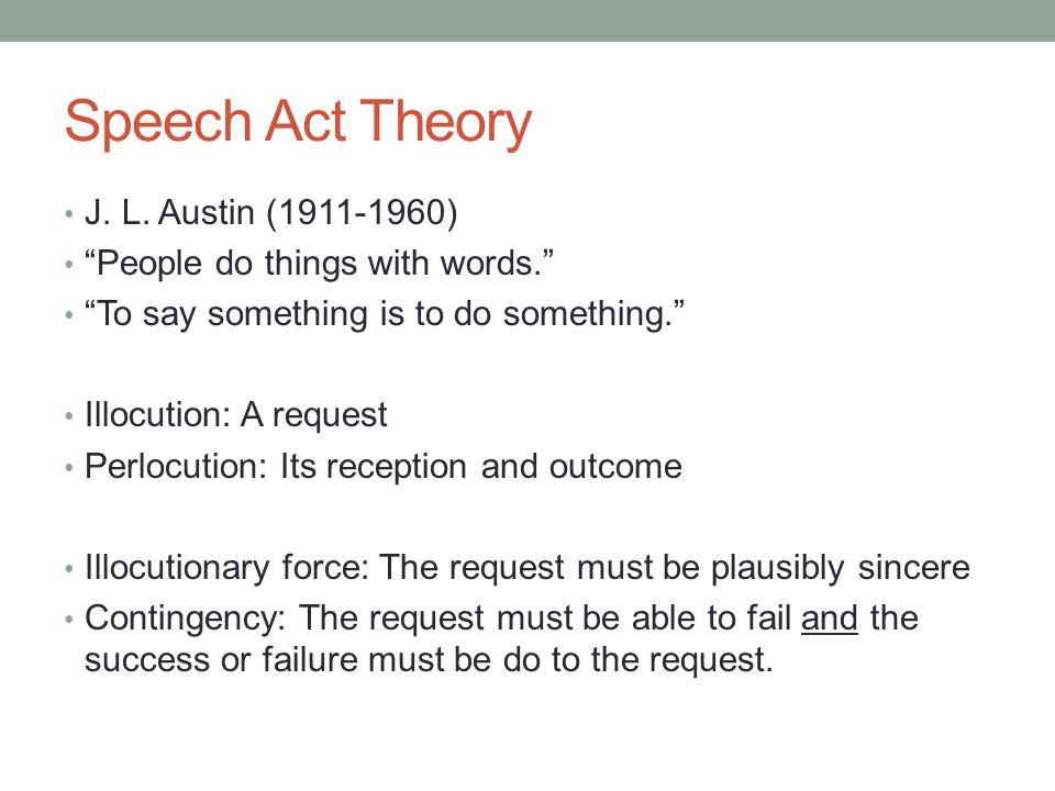 Speech Act Theory J. L.