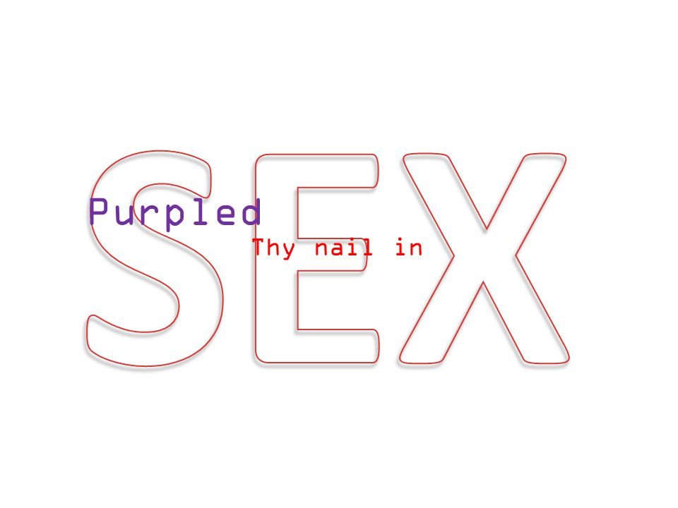 Purpled Thy nail in